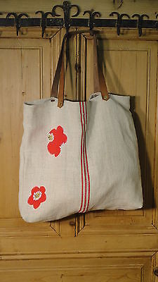 Antique European Grain Sack,Tote Bag, Book Bag,Ipad Bag,Purse.#4385