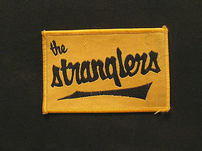 THE STRANGLERS VINTAGE SEW ON  PATCH PUNK NEW WAVE