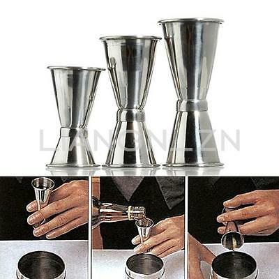 Size S/M/L Stainless Steel Jigger Cocktail Drink Bartender Mixer Measuring Cup