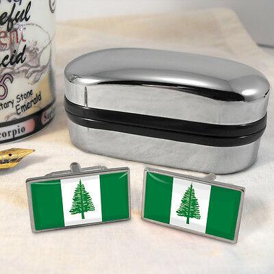 Norfolk Island Flag Cufflinks & Box
