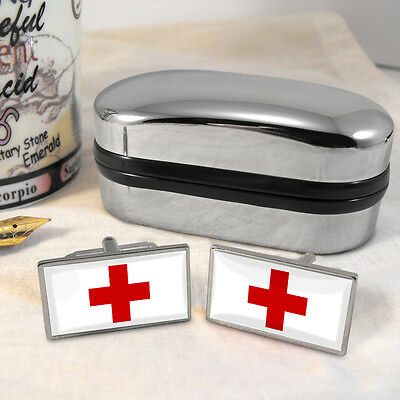 Red Cross Flag Cufflinks & Box