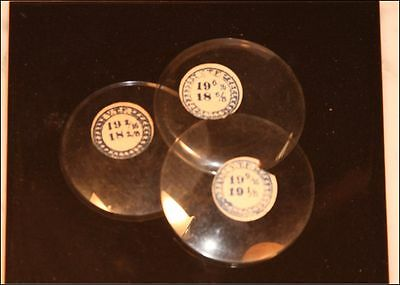 19 Ligne NOS Glass Pocket Watch Crystals Open Face Sizes NEW OLD STOCK