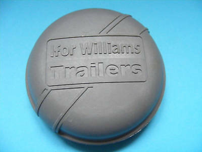 76mm GREY Dust Grease Hub Caps for IFOR WILLIAMS Trailer Wheels