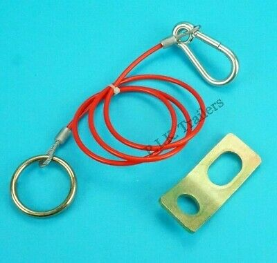 FREE P&P* Heavy Duty Breakaway Cable & FIXING BRACKET for Horse Box & Trailers