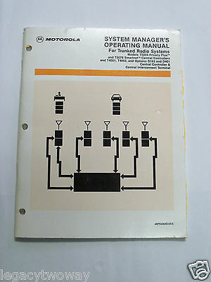 Motorola System Manager Operating Manual for Trunked Radio Systems