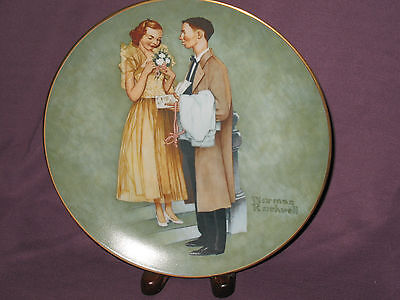1978 Norman Rockwell Collector Plate American Family First Prom
