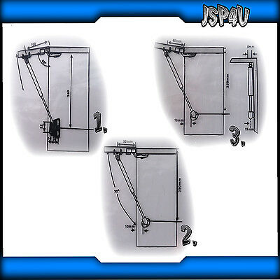Gas Strut Stay Kitchen Cabinet Door Hinge 50Nm,60Nm,80Nm,100Nm,120Nm and 150Nm