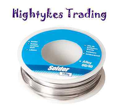 100g reel 1mm 60/40 Tin Lead solder wire with flux. Sn/Pb AS15 electrician