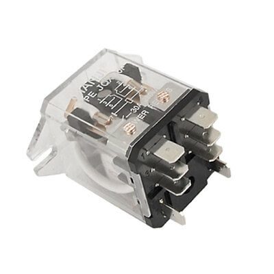 JQX-30F Plug-in Type 12V DC Coil 30A 250V AC Power Relay DPDT 8 pins