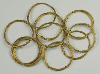 Brass wire tension spool assortment clocks 10x guage 18-27 clock spring mantle