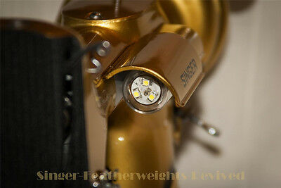 SINGER FEATHERWEIGHT **LED BULB** NICE BRIGHT WHITE LIGHT - FITS MANY MACHINES