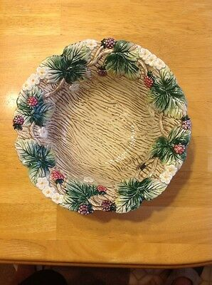 Fitz & Floyd 1990 Hand Painted Flowered Leaf Decorative Collectable Bowl