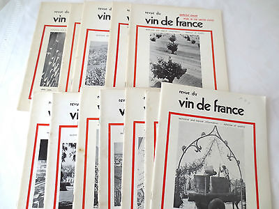 Revue Du Vin De France Wine Technical & Topical Information Books Set 12 1974-76