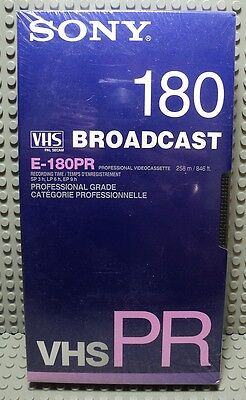 CASSETTE VIDEO vierge VHS PR SONY 180 BROADCAST CATEGORIE PROFESSIONNELLE