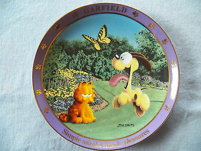 "8"" Danbury Mint A Day with Garfield the Cat Plate Simple Minds, Simple Pleasures"