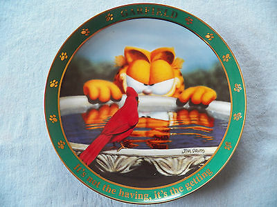Danbury Mint A Day Garfield the Cat Plate It's not the Having, it's the Getting