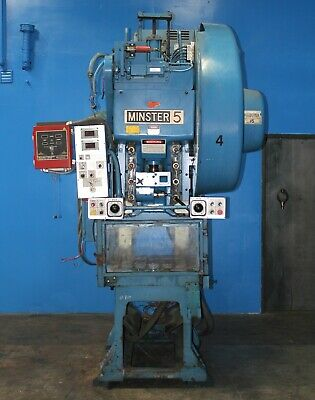 45 Ton Minster Model #5SS Gap Frame High Speed Punch Press, S/N 5SS-FB-28158