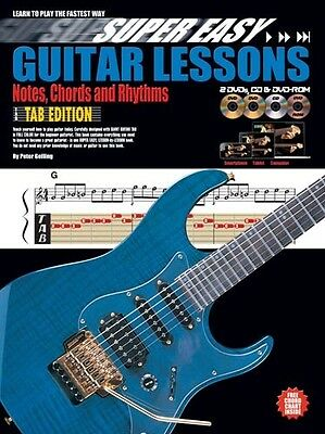 Super Easy Guitar Lessons Tab Edition Bk&2DVDs&CD&DVD-ROM