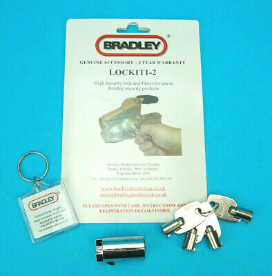 Genuine Bradley Hitch Lock & 4 Keys for Doublelock Trailer Couplings
