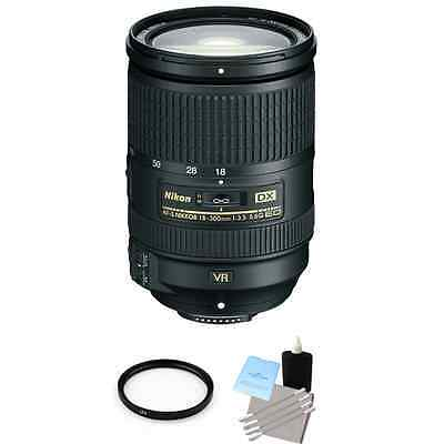 Nikon AF-S Nikkor DX 18-300mm f/3.5-5.6G ED VR Lens + UV Filter & Cleaning Kit