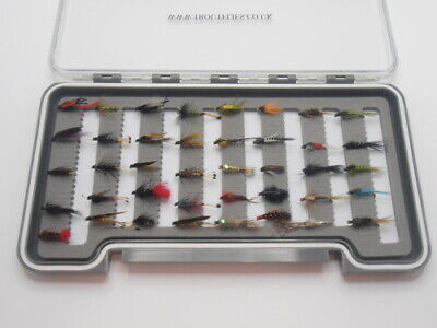 Boxed Trout Fishing Flies, 40 Flies, 20 Nymph, 20 Wet Flies, For Fly Fishing