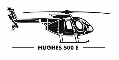 MD-Helicopters Hughes 500 E Aufkleber