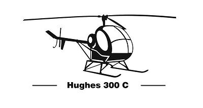 MD-Helicopters Hughes 300 C Aufkleber