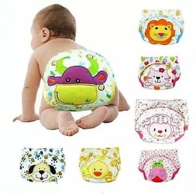 Toilet Training Pants Underwear Baby Toddler Kids Cloth Nappy Size 6-36 months