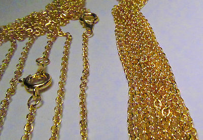 Wholesale 10 Pcs 18 Inch Gold Plated Fine Cable Link Chains Necklace Lot
