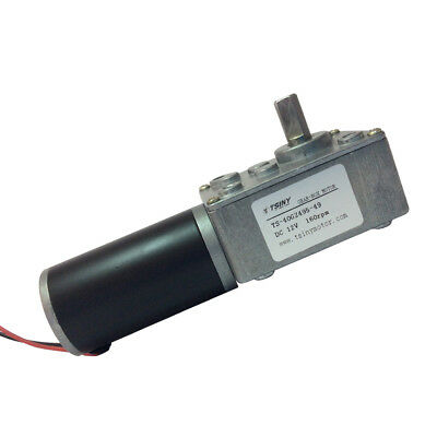 12V 160RPM DC Worm Geared Motor Right Angle Gear Motor Reversible 5/16 in Shaft