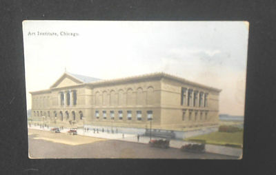 Vintage Chicago Art Institute Postcard Stamped With 1916  And Has A Us Stamp**