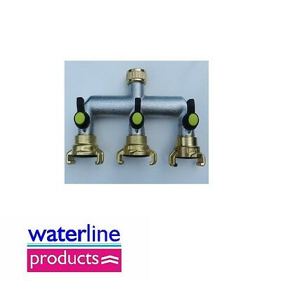 Brass Hose Connectors/Fittings Geka Type Quick Coupling Valved Manifold
