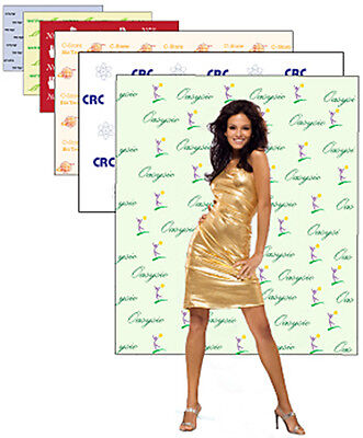 8' x 8' Step and Repeat Banner and red carpet package