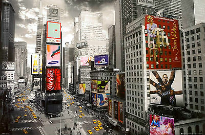 New York City Times Square From Above Huge Print Poster Art 55X39 140X99cm