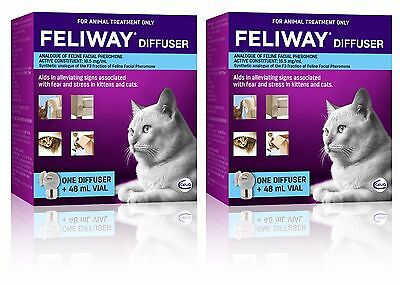 Feliway for Cats 48mL Diffuser Set - 2 Pack - Genuine Australian Items