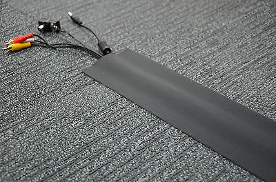 Cable Cover for Carpet - 100mm(width) x 10m(length) - Black - (C)