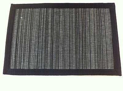 Black and White Straw Rani Placemat - 33 x 48cm