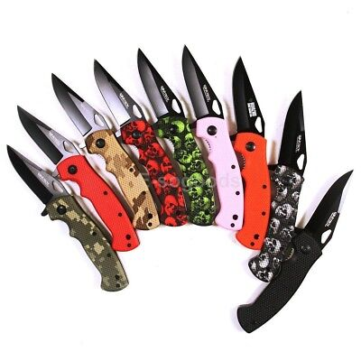 """NEW 8"""" inch 1065 Steel Assisted Opening Survival Folding Pocket Knife USA Seller"""