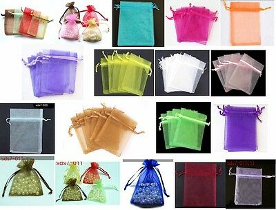 100pcs wholesale Plain Organza Pouch Wedding birthday party Jewellery Gift Bag