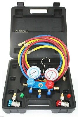 AC Manifold Gauge Set Quick Coupler Air Conditioner Refrigeration R134A R12 R22