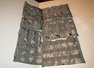 Lot of 5 US Army Military Surplus MOLLE II ACU Three Mag Side 30 Rnd Pouches NEW