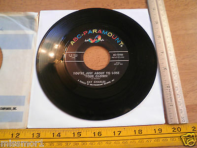 1966 Ray Charles ABC Paramount Records 10785 45 RPM VG+ Together Again