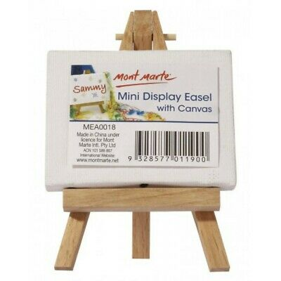 1pce Mont Marte Mini Display Easel with Canvas 6x8cm