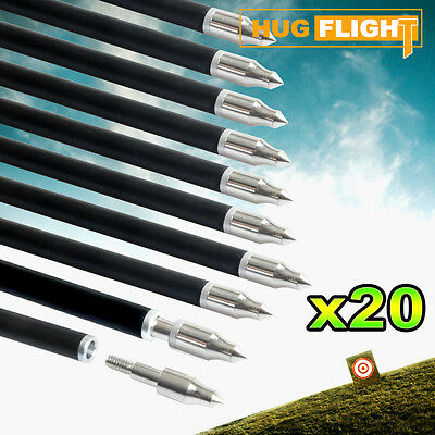 "20x 32"" Fiberglass Arrows 15-80lb Screw Tip Hunting Recurve suits Most Bows+GIFT"