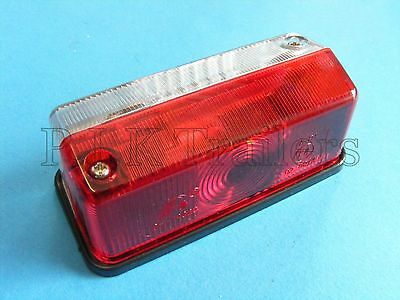 Red & Clear Outline Marker Lamp Light for Horsebox Trailers & Caravans