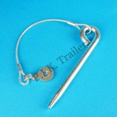 Cotter Pin with Plastic Coated Wire 10mm dia x 135mm for Trailer & Horsebox