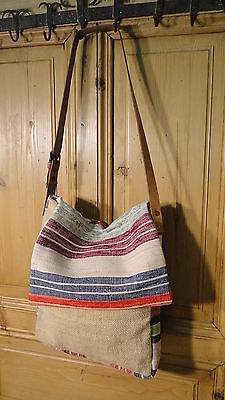 Antique European Grain Sack,Tote Bag, Book Bag,Ipad Bag,Purse.#4493
