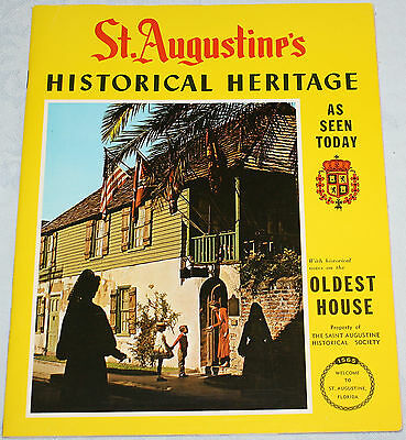 St Augustine Historical Heritage Booklet Activities Attractions History 1974