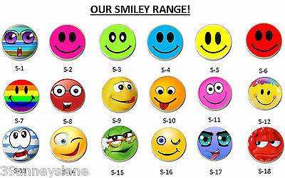 anneys - golf ball markers - select from **our SMILEY range** - only $5.00 each!