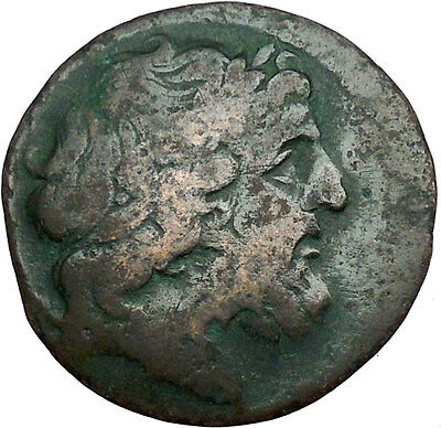 Messana in Sicily under Mamertini 220BC Greek Coin Zeus Naked warrior   i33488